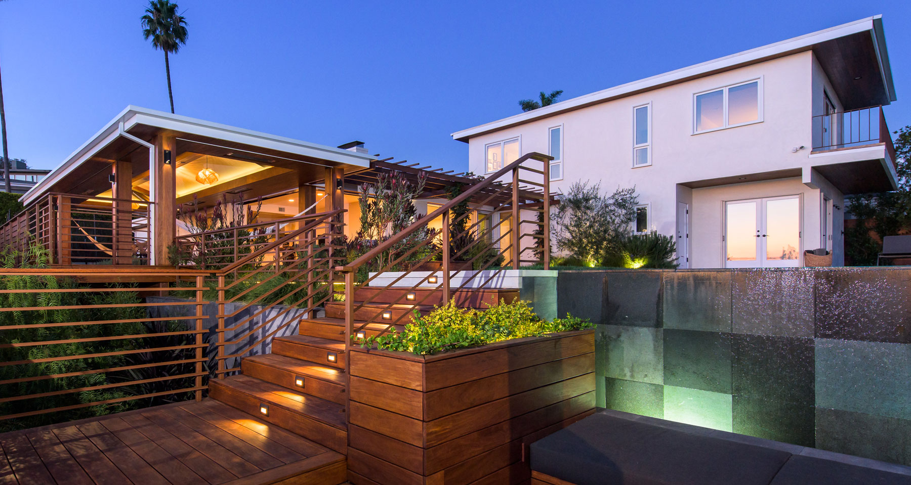 After picture of back yard renovation in Pacific Palisades