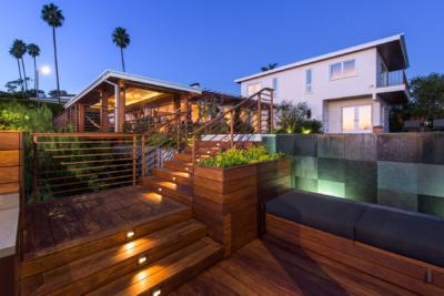 Backyard renovation in Pacific Palisades by Kurt Krueger Architects