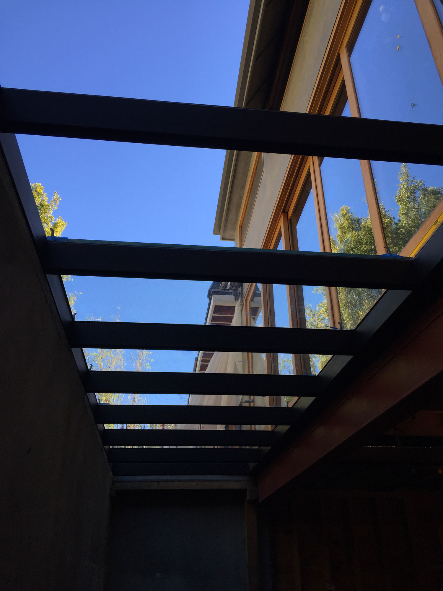Glass Walkway and skylight in Wes Los Angles