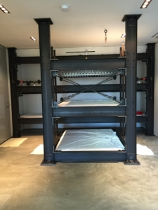 Bunk room for boys with full size mattress bunk beds