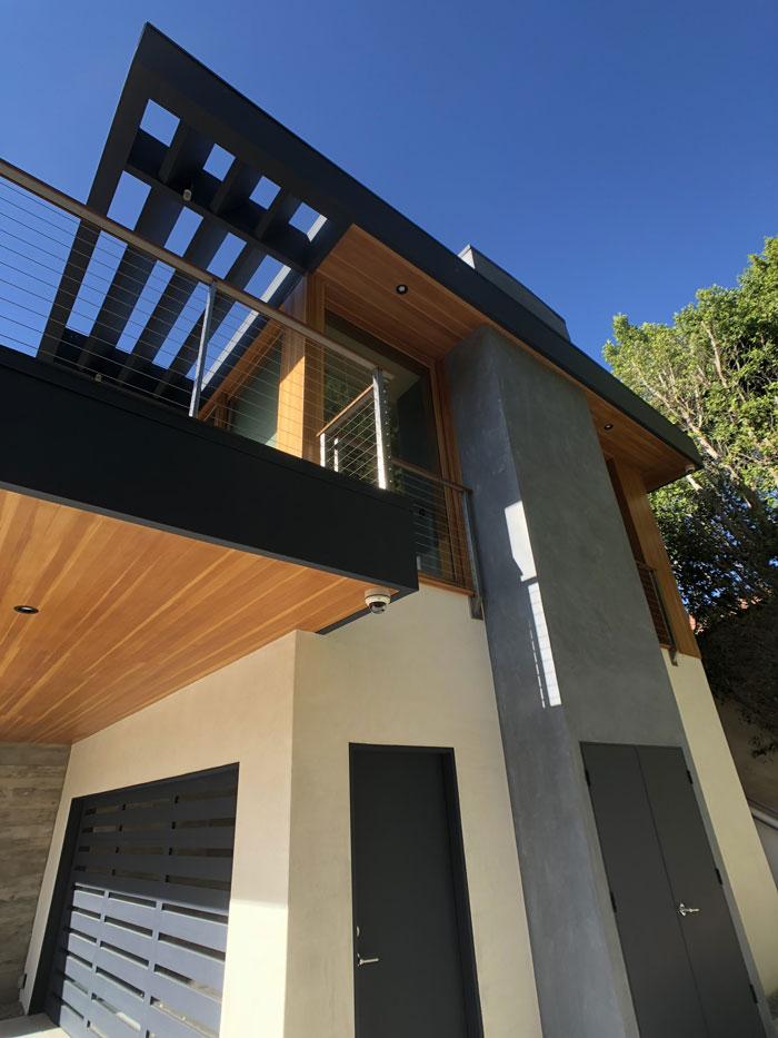 Garage door design for a modern home