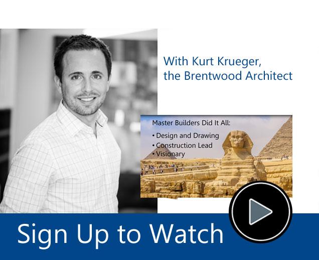 Free webinar video from Kurt Krueger Architects